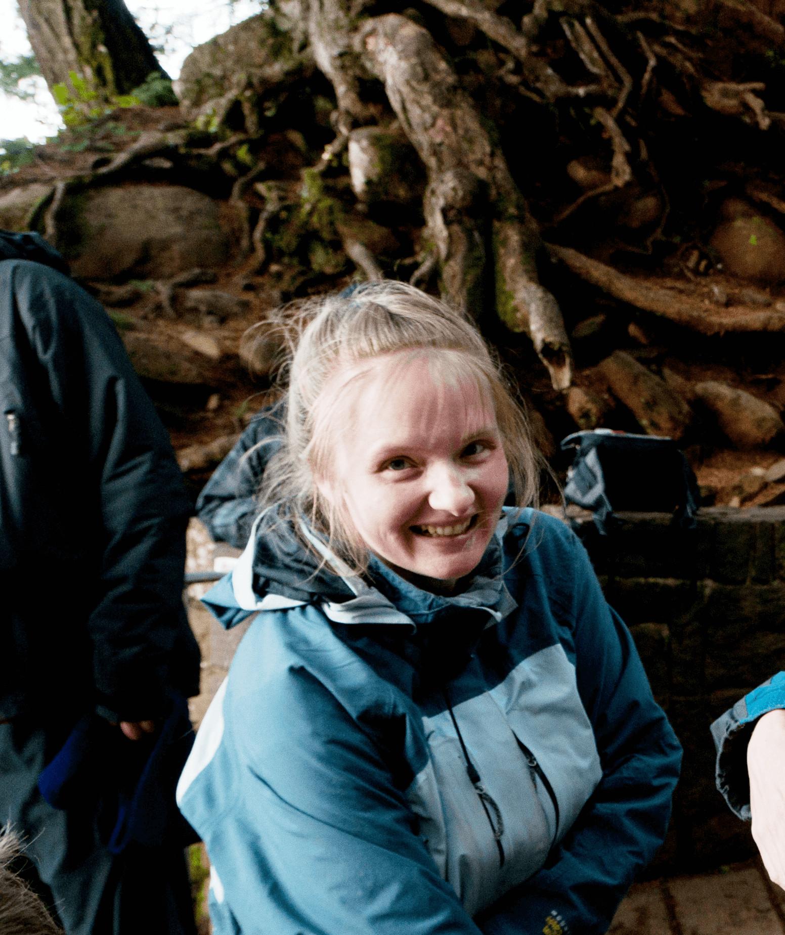 Effie Greathouse at Mulnomah Falls, Oregon