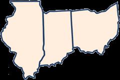 Illinois Indiana Ohio icon