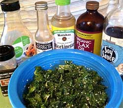 Kale Salad and ingredients from Kylie Menagh-Johnson's recipe