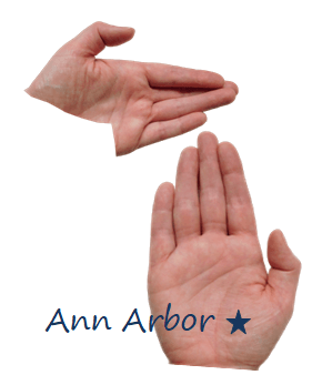 Michigan Ann Arbor hand map