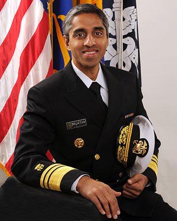 Surgeon General Vivek Murthy in uniform