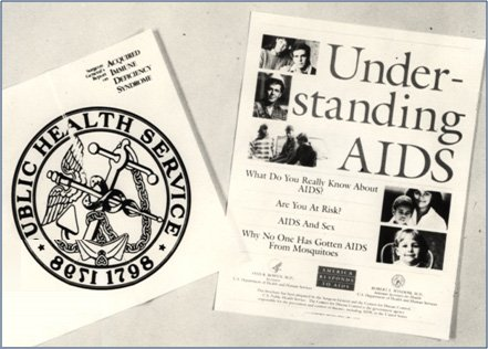 Pictures of the booklet Surgeon General Koop sent to all American households in the late 1980s called Understanding AIDS