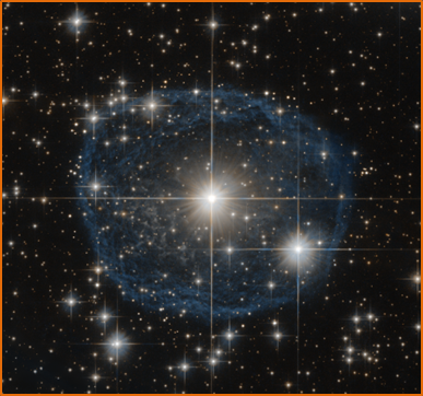 Wolf-Reyet start WR 31a, one of the massive stars which fluoride and fluorine are made