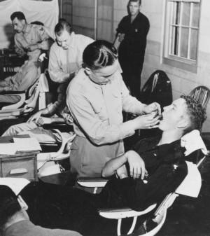 WW2 dental exam Letterman Army Medical Center