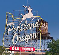 White Stag sign in Portland Oregon on Burnside Boulevard