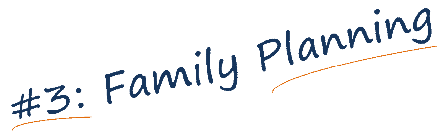 Family planning banner text