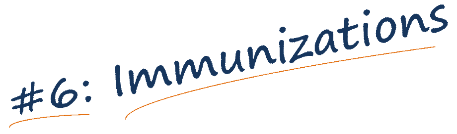 Immunizations banner text