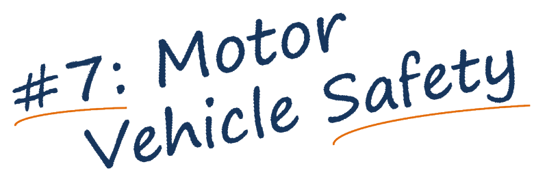 Motor Vehicle Safety banner text