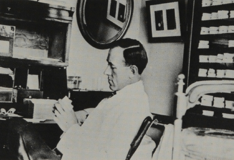 Frederick McKay in his office in early 1900s