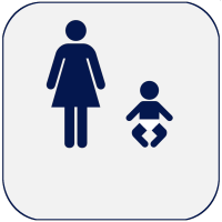 Icon of mom and baby for public health achievement Healthier Mothers and Babies