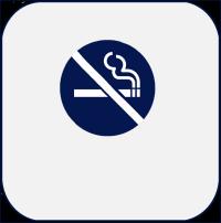 Icon of no smoking symbol for public health achievement Tobacco as a Health Hazard